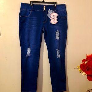 Denim - Fashion Butt Lifting Distressed Jeans